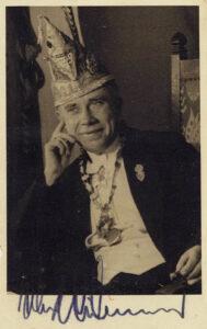 1948: Präsident Walter Heidenblut im Agnessaal